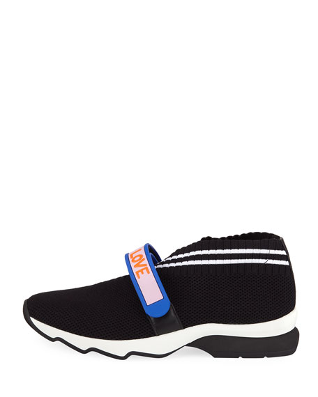 Knit Trainer with Rubber Strap