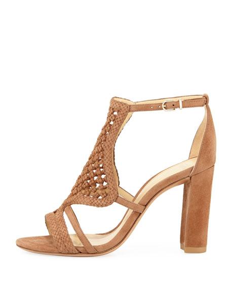 Carmella Crocheted Suede Sandal