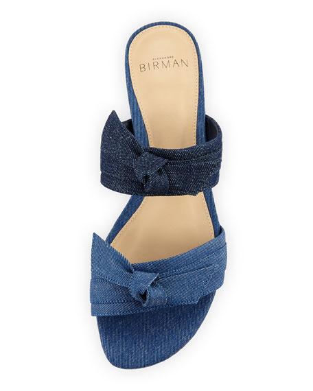 Mellita Two-Band Flat Denim Sandal