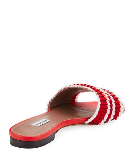 Sprinkles Pleated Grosgrain Slide Sandal