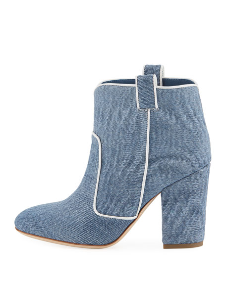 Pete Piped Denim Bootie