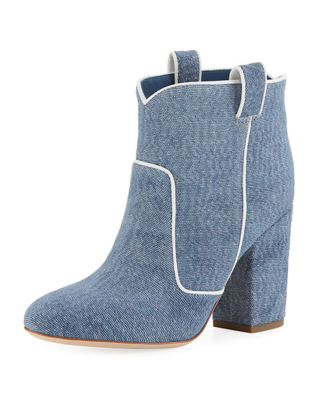 Laurence Dacade PETE PIPED DENIM BOOTIES