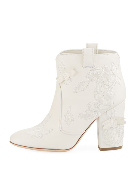 Pete Embroidered Western Booties