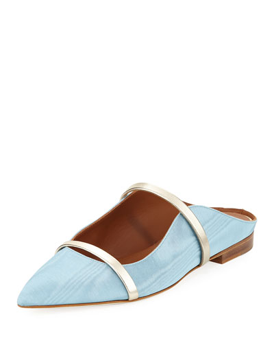 Maureen Moire Mule Slide, Blue