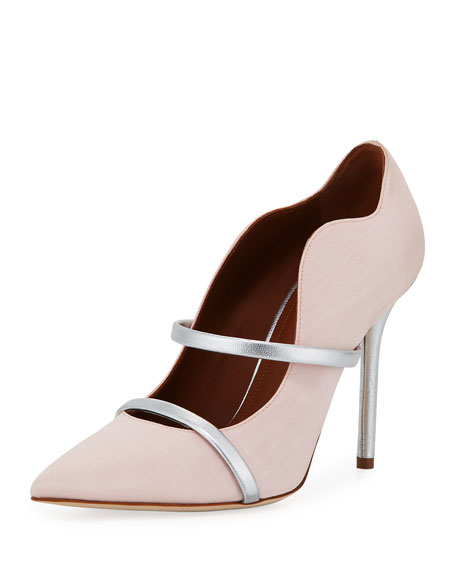 Maureen Grosgrain Two-Strap Pump