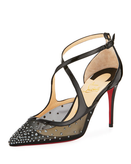 size 40 8b57e 55004 Christian Louboutin Twistissima Strass Red Sole Pump