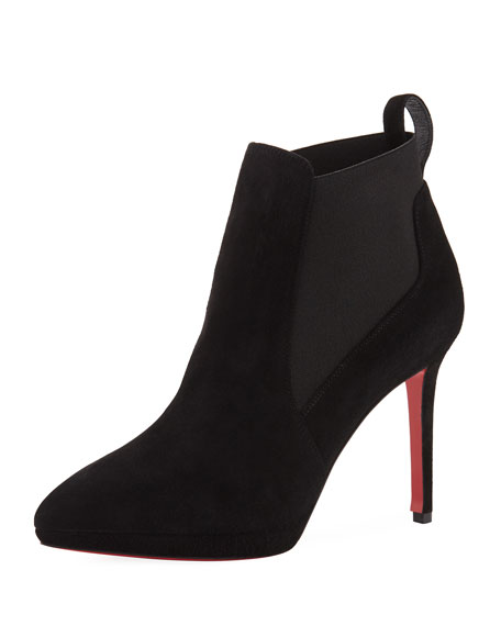 Crochinetta Suede Red Sole Bootie