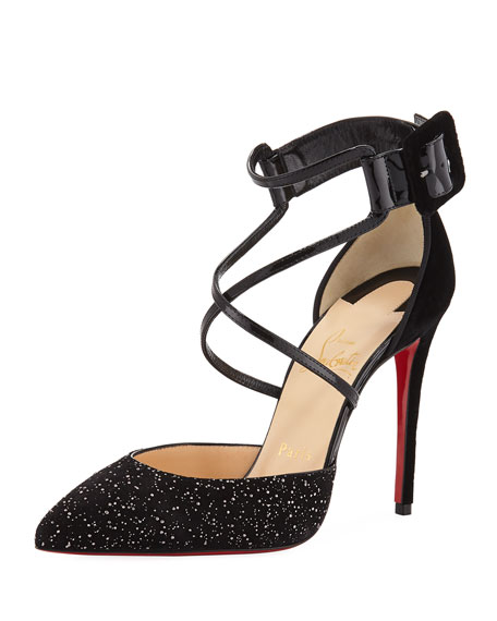 Suzanna Crisscross Red Sole Pump
