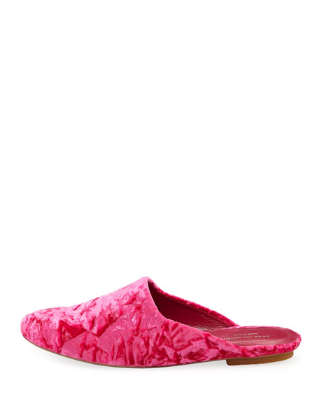 Crushed Velvet Mule Slide