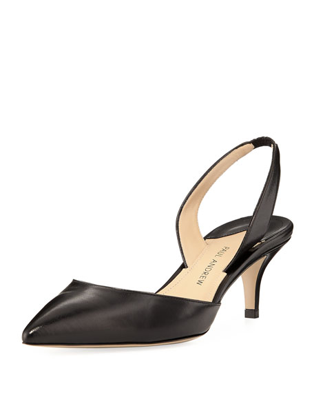 PAUL ANDREW 55MM RHEA LEATHER SLINGBACK PUMPS