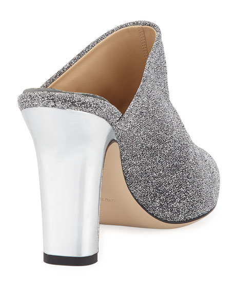 Truitt Metallic Fabric Mule Pump
