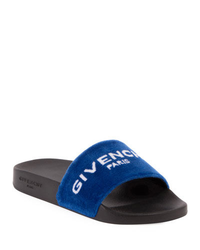 Terry Cloth Logo Slide Sandal