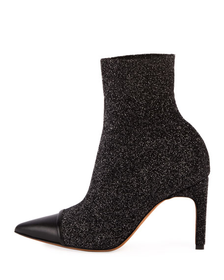 Graphic Knit Cap-Toe Ankle Boot