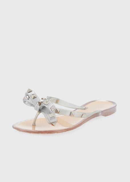 PVC Rockstud Thong Sandal