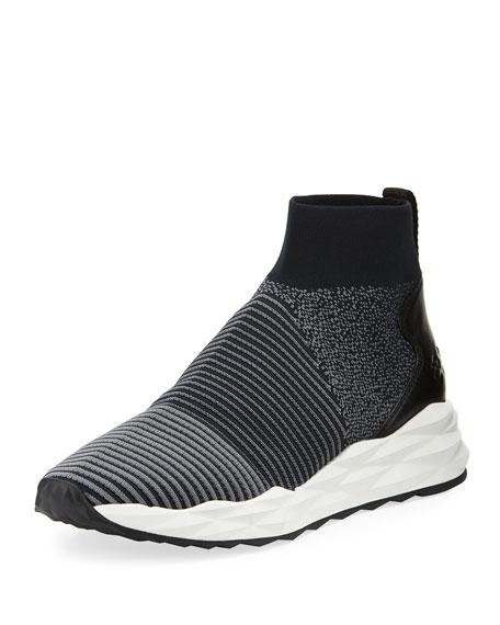 Spot Stretch-Sock High-Top Sneaker