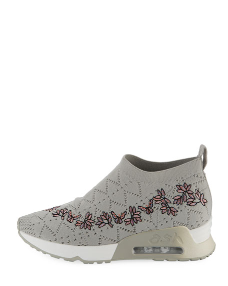 Lolita Embroidered Slip-On Sneaker