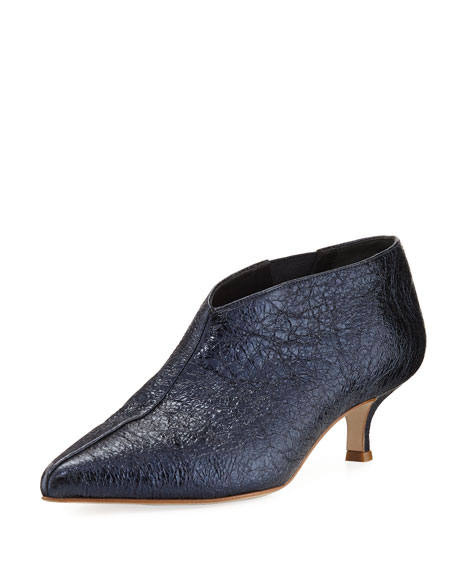 Joe Crinkled Metallic Bootie