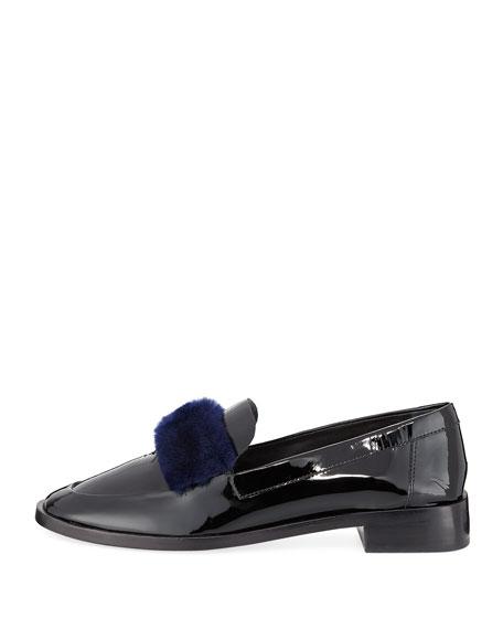 Greta Fur-Trim Patent Loafer