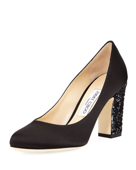 Billie Glitter-Heel Pump