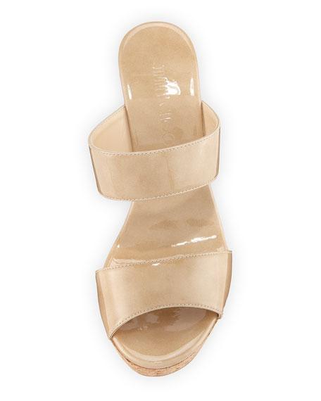 Parker Two-Band Wedge Slide Sandal