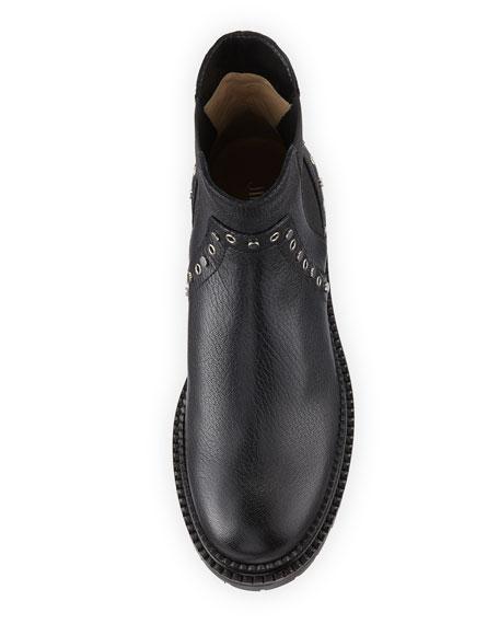 Burrow Leather Grommet Moto Boot