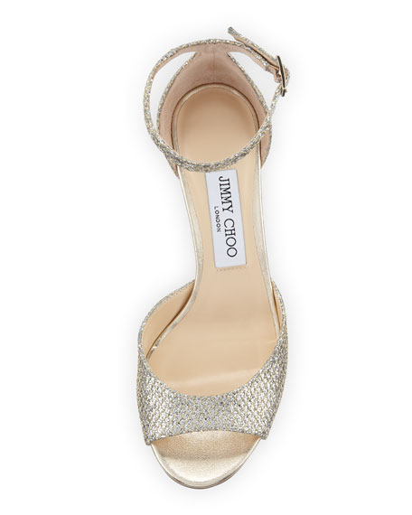 Annie Glitter Fabric d'Orsay Sandal