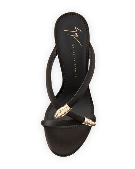115mm Silk Snake Slide Sandal