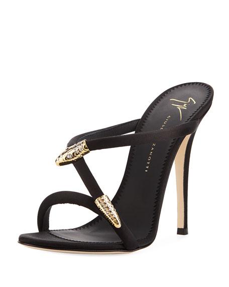 67e988c852f6 Giuseppe Zanotti 115mm Silk Snake Slide Sandal