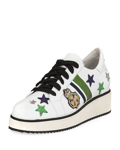 Emmerson Patch-Embellished Demi-Wedge Sneaker