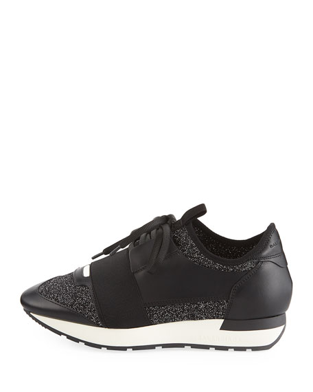Classic Stretch-Leather Sneaker
