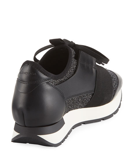 Classic Stretch-Leather Sneakers