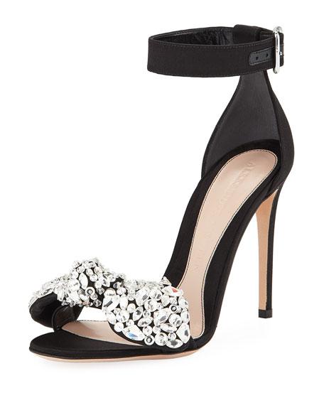 Crystal Bow d'Orsay Sandal