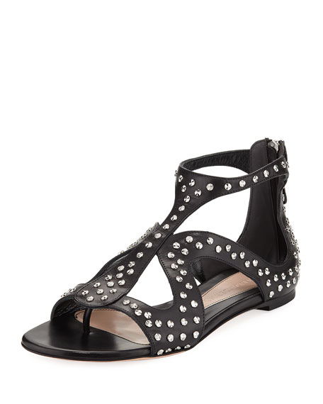 Studded Leather Cage Sandal