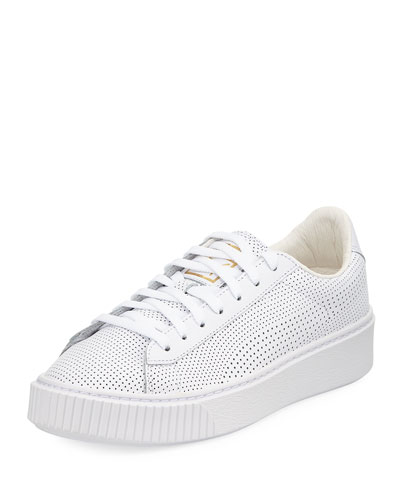 Basket Perforated Platform Sneaker