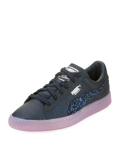 x Sophia Webster Basket Glitter Low-Top Sneaker