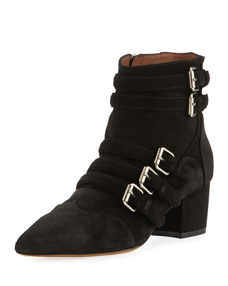 Christy Suede Buckle 50mm Booties