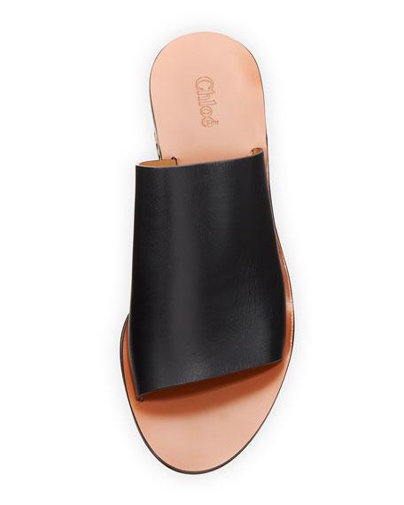 Qassie Leather Block-Heel Mule Sandal