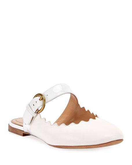 Chloe Lauren Flat Leather Mary Jane Slides