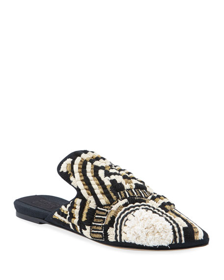 Trasimeno Embroidered Loafer Mule