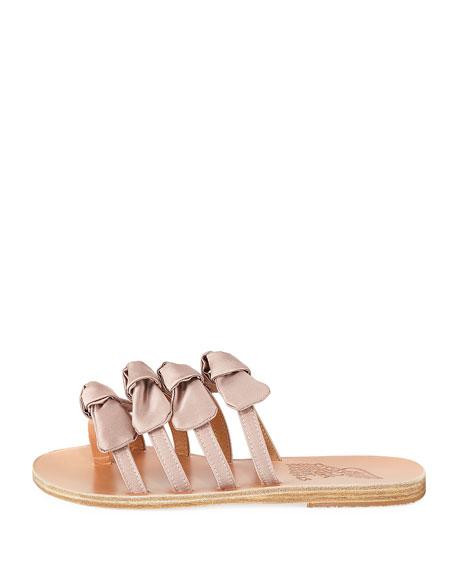 Hara Satin Bow Slide Sandal