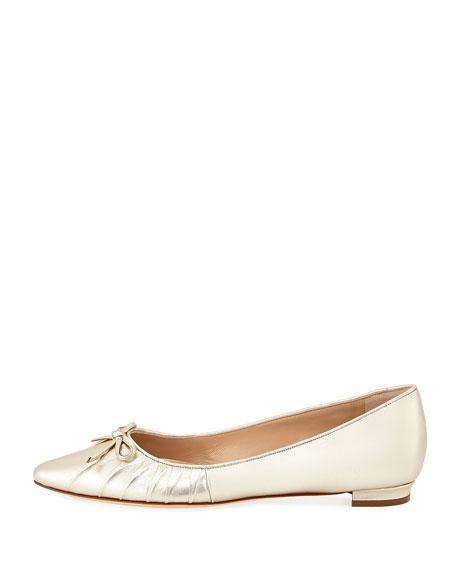 Pleata Point-Toe Ballerina Flat