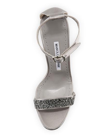 Chaos Beaded Ankle-Wrap Sandal