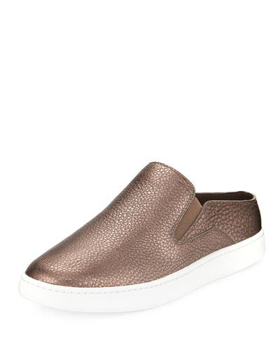 Verrell-2 Metallic Leather Mule Sneaker
