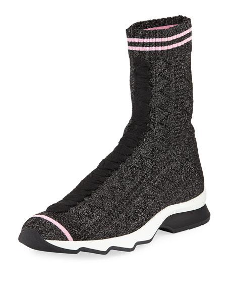 Fendi Rockoko Knit Sock Sneaker
