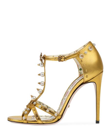 Regina Metallic T-Strap Sandal