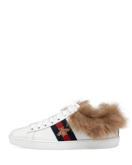 New Ace Sneakers w/ Fur Trim
