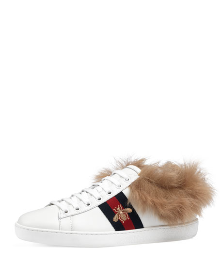Gucci New Ace Fur Sneaker kCsXJrX