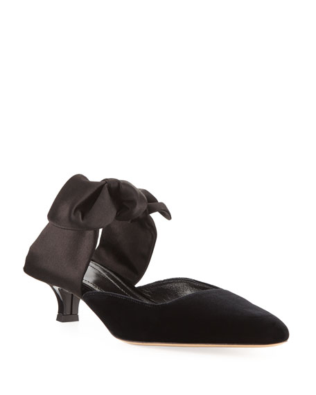Image 1 of 1: Coco Bow-Tie Mule Pump