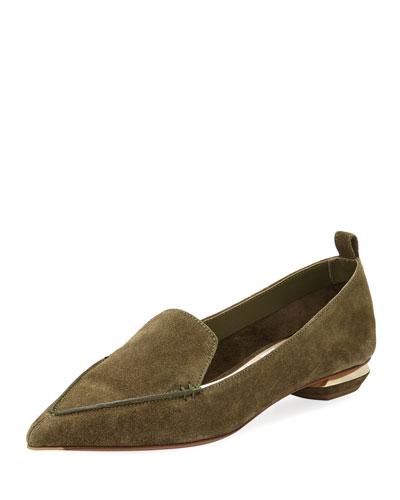 Beya Suede Loafer, Olive
