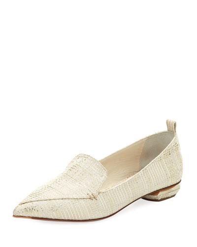 Beya Metallic Tweed Loafer